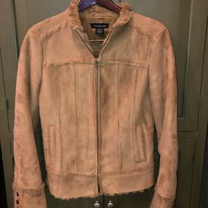 Calvin Klein Women's Suede Camel Color Jacket